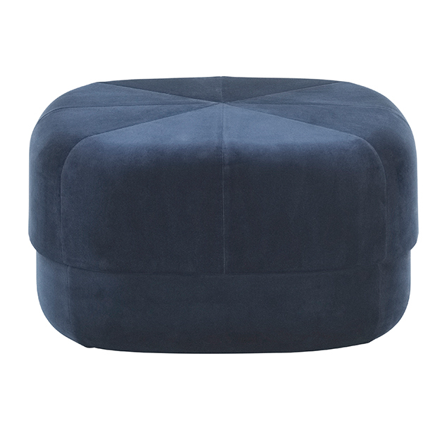 Normann Copenhagen Circus pouf, large, dark blue velour