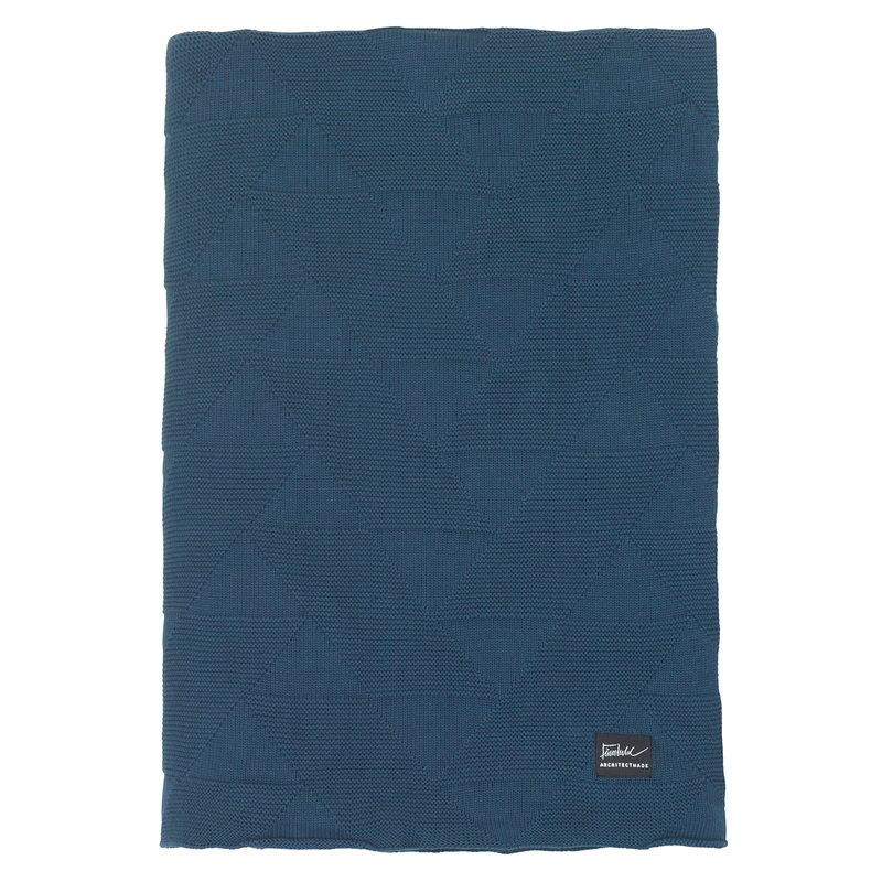 Architectmade FJ Pattern blanket, 240 x 210 cm, blue