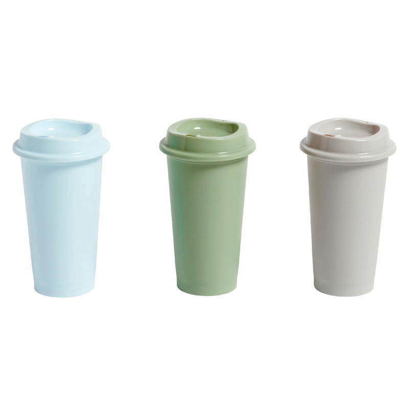 Hay Paquet coffee cups, set of 3, blue