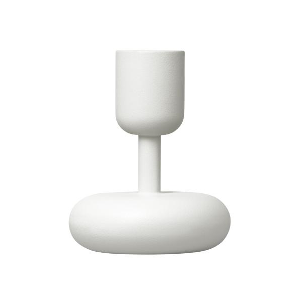 Iittala Nappula kynttilänjalka 107 mm, valkoinen
