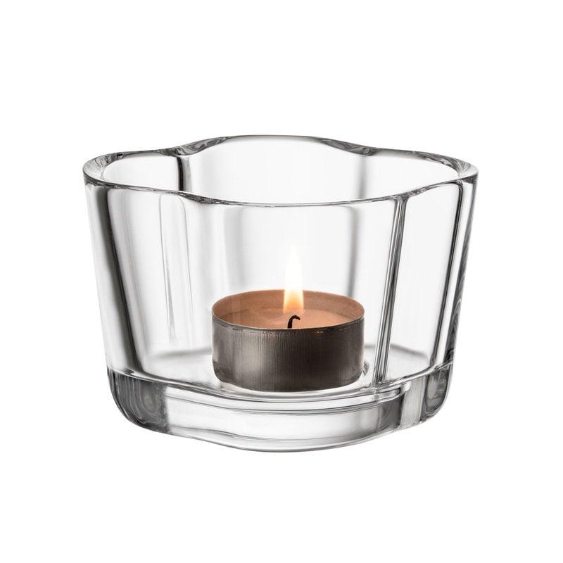Iittala Aalto tea light candleholder 60 mm, clear