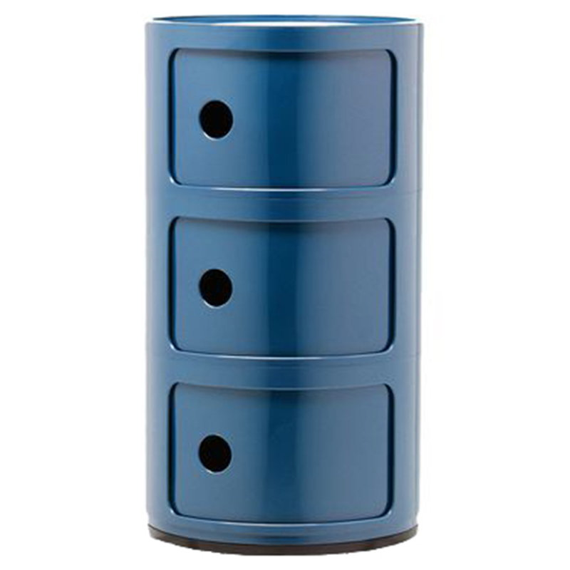 Kartell Componibili storage unit, 3 modules, blue