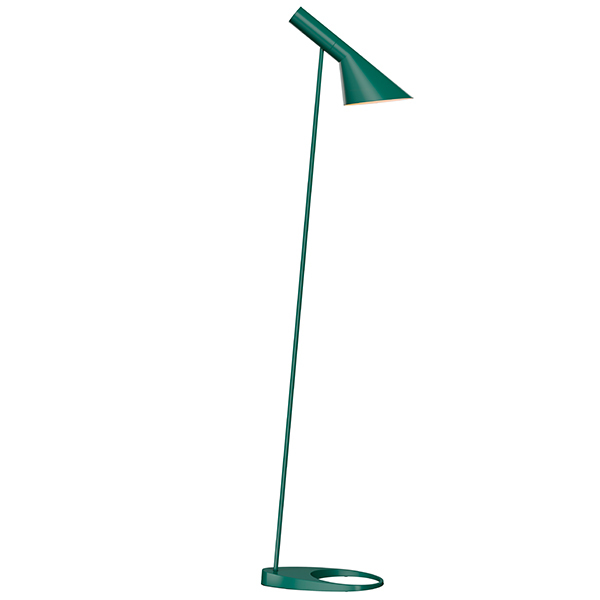 Louis Poulsen AJ floor lamp, dark green