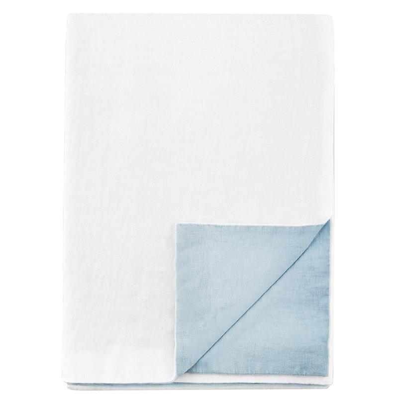 Langø Copripiumone, lino, celeste-bianco