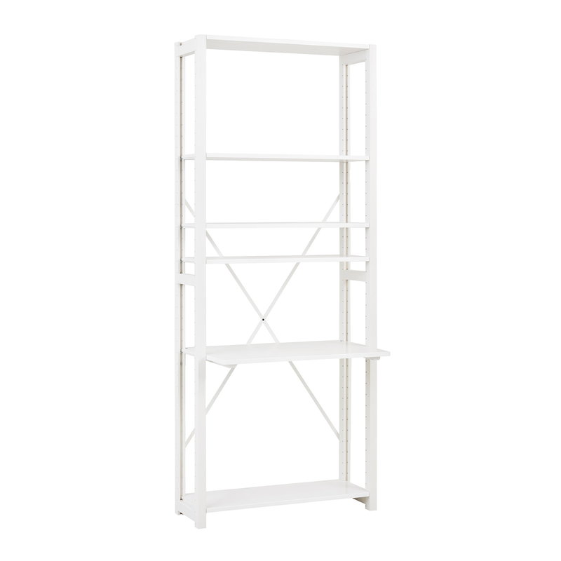 Lundia Classic ladder desk, white