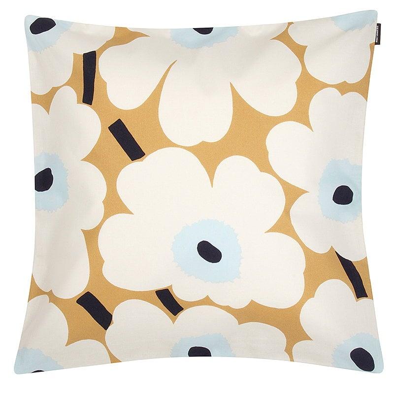Marimekko Fodera per cuscino Pieni Unikko 50 x 50 cm, beige-bianco-blu