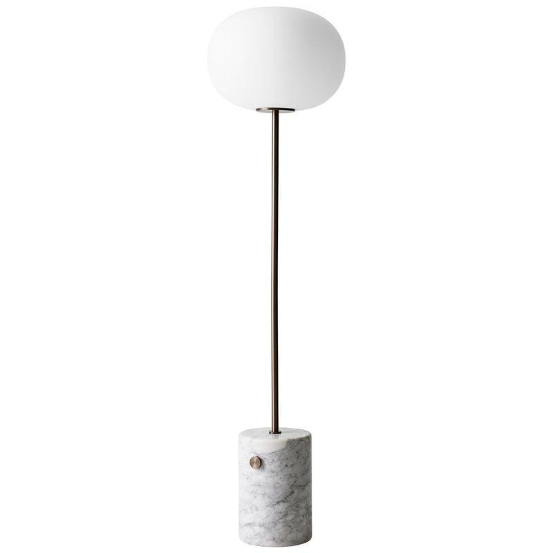 Menu JWDA floor lamp, white marble - bronzed brass