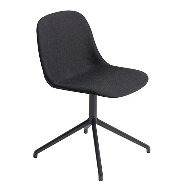 Muuto Fiber tuoli, pyörivä, Remix 183 - musta