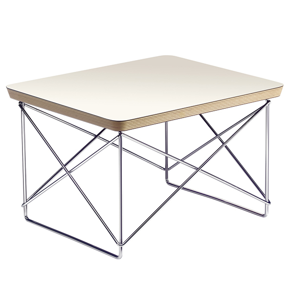 Vitra Eames LTR Occasional table, white - chrome