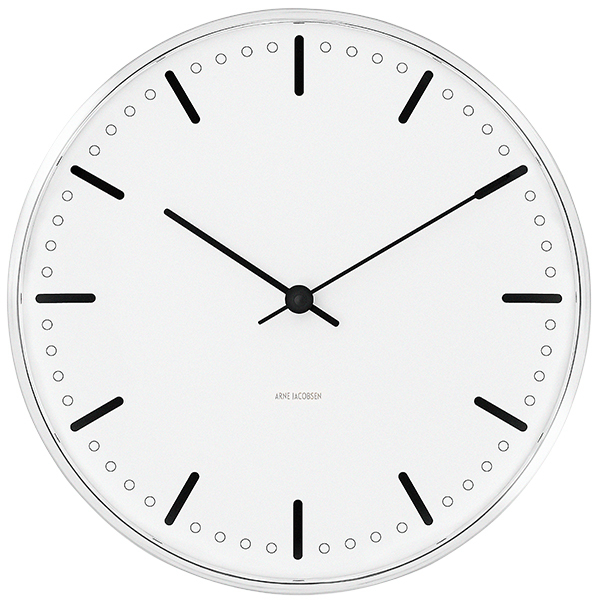 Arne Jacobsen AJ City Hall wall clock, 29 cm
