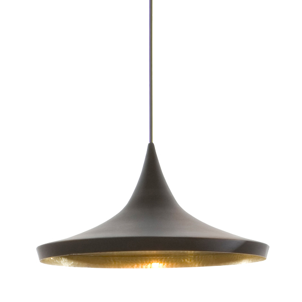 Tom Dixon Lampada Beat Light Wide, nera