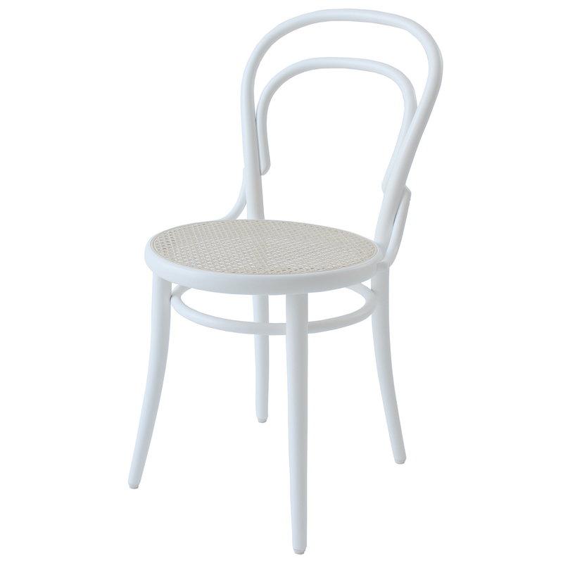 TON Sedia Chair 14, rattan - bianco
