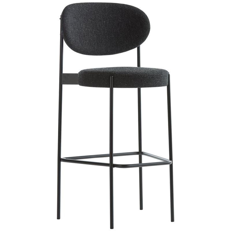 Verpan Series 430 bar chair, dark grey