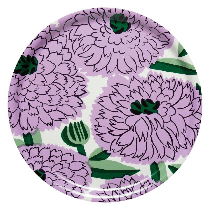 Marimekko Primavera tray, off white - lilac - green