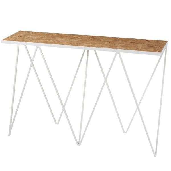 &New Giraffe console table, OSB/white