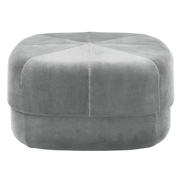 Normann Copenhagen Circus pouf, large, grey velour