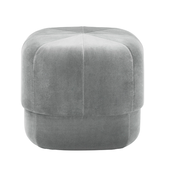 Normann Copenhagen Circus pouf, small, grey velour