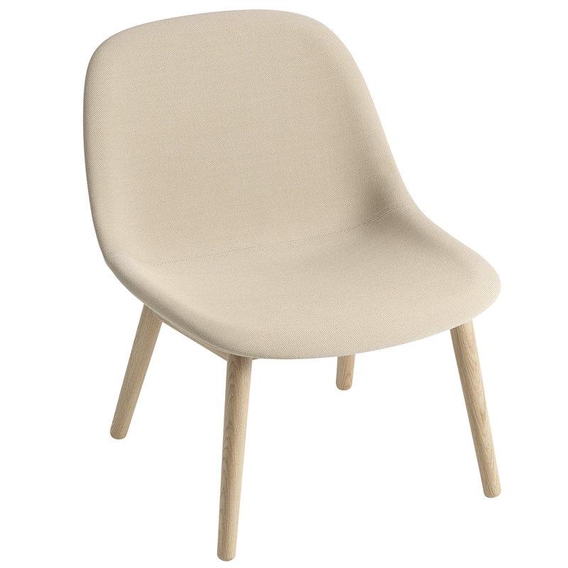 Muuto Fiber lounge chair, wood base, Steelcut Trio 236 - oak