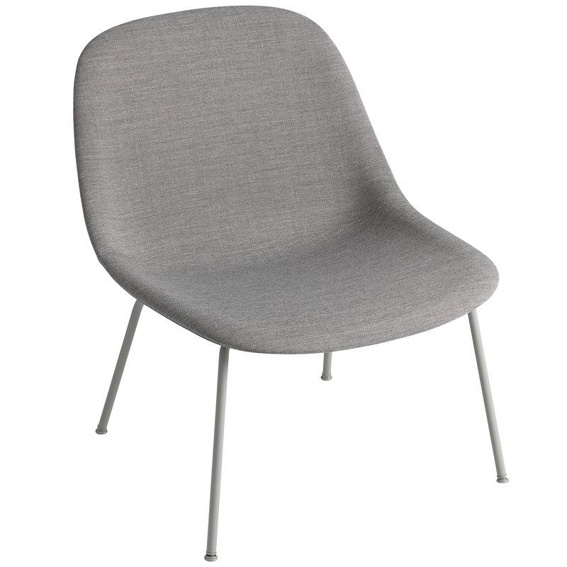 Muuto Fiber lounge chair, tube base, Remix 133 - grey