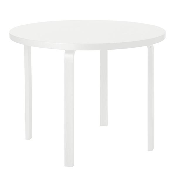 Artek Aalto pöytä 90A, kokovalkoinen