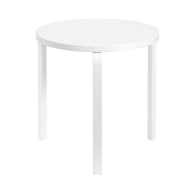 Artek Aalto table 90C, all white