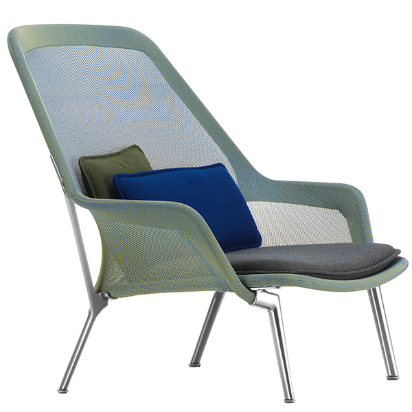 Vitra Slow Chair, blue/green - aluminium