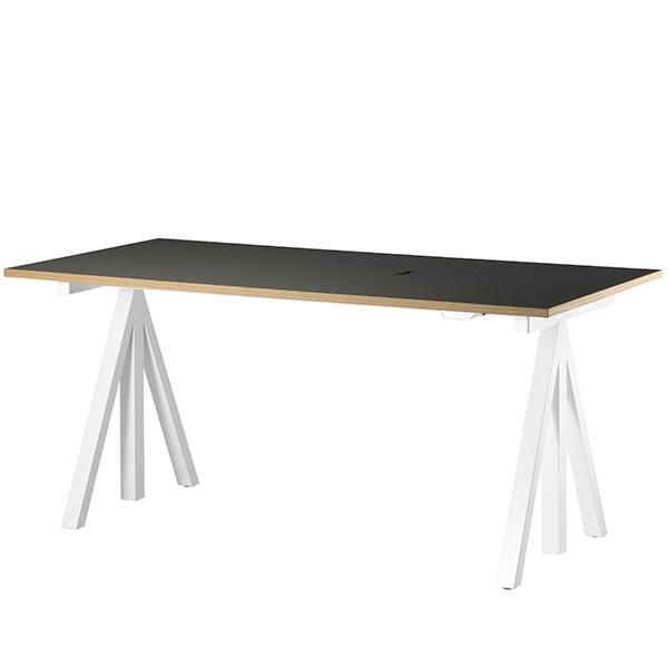 String String Works height adjustable work desk, 180 cm, charcoal