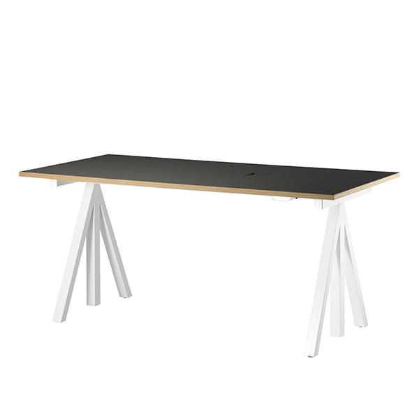 String String Works korkeussäädettävä pöytä 140 cm, mustanharmaa