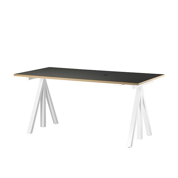 String String Works korkeussäädettävä pöytä 120 cm, mustanharmaa