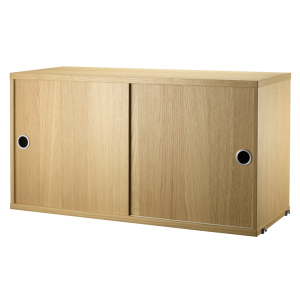 String Furniture String cabinet, 78 x 30 cm, oak