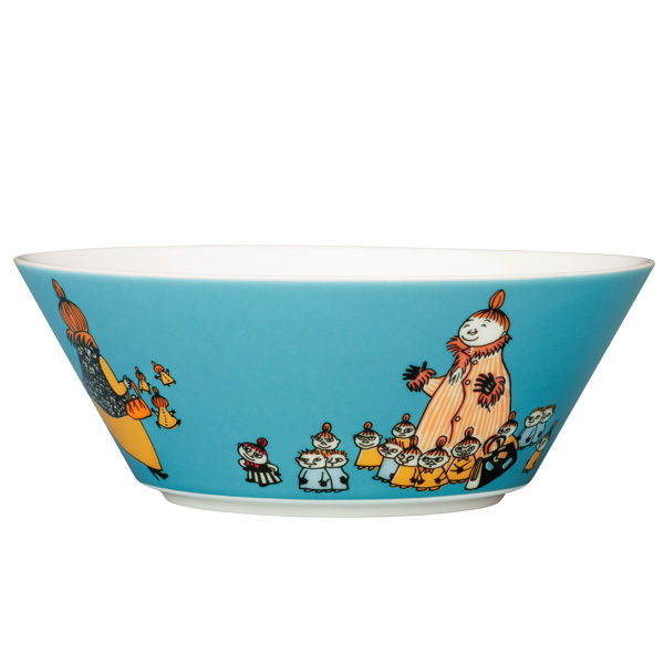 Arabia Moomin bowl, Mymble's mother, turquoise