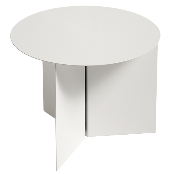 Hay Slit table, round, white