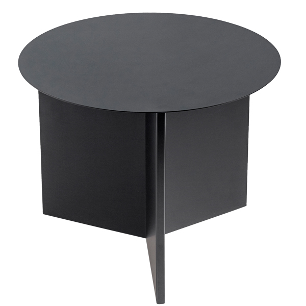 Hay Slit table, round, black