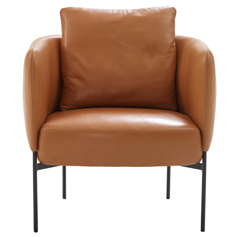 Bonnet Club lounge chair, aniline leather