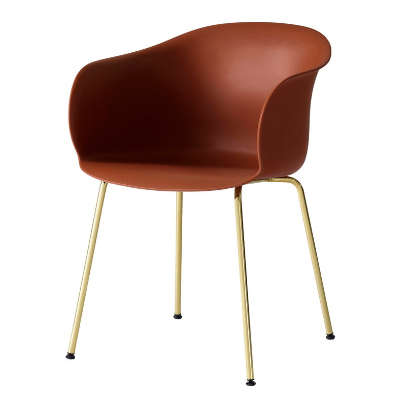&Tradition Elefy JH28 chair, copper brown - brass