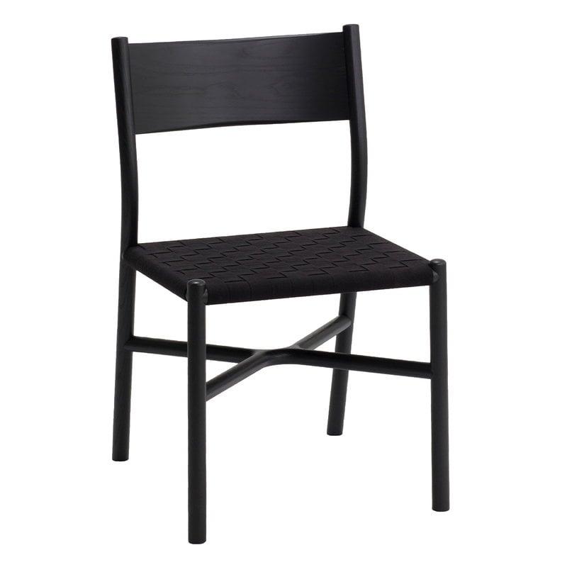 Ariake Ariake tuoli, musta - tekstiilipunos
