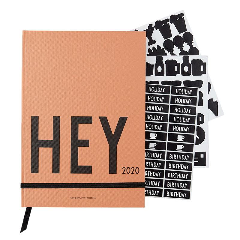 Design Letters Calendario A5 2020, camel