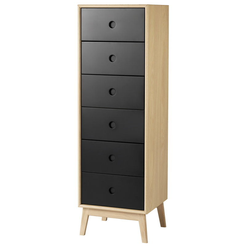 FDB Møbler F23 Butler dresser, high, oak - black