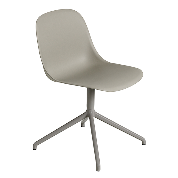 Muuto Fiber side chair, swivel base, grey