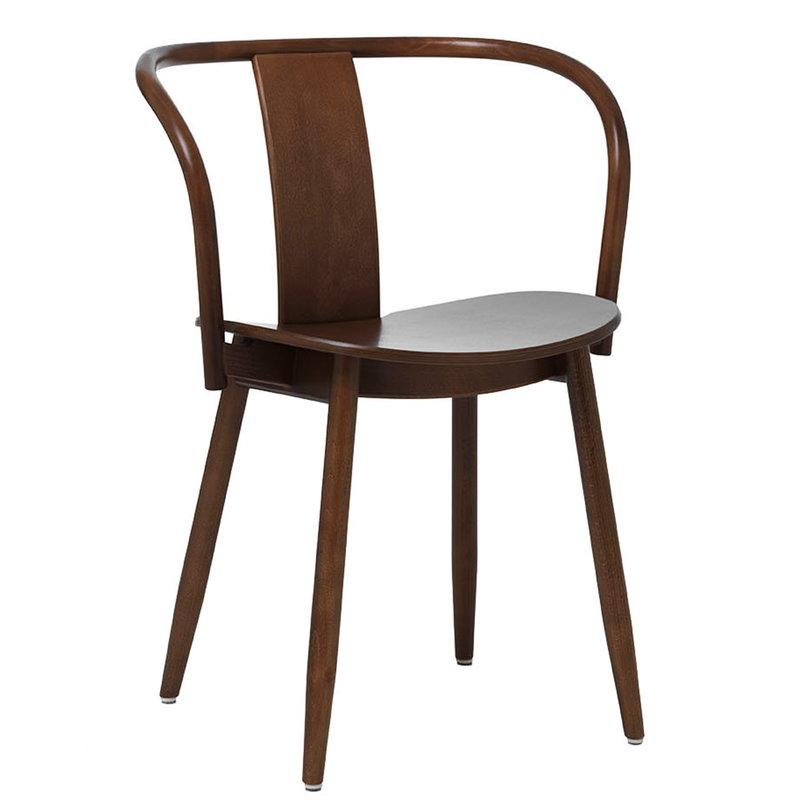 Massproductions Icha chair, walnut stained beech