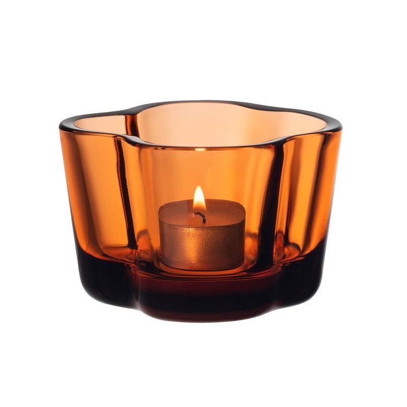 Iittala Aalto kynttilälyhty 60 mm, pomeranssi