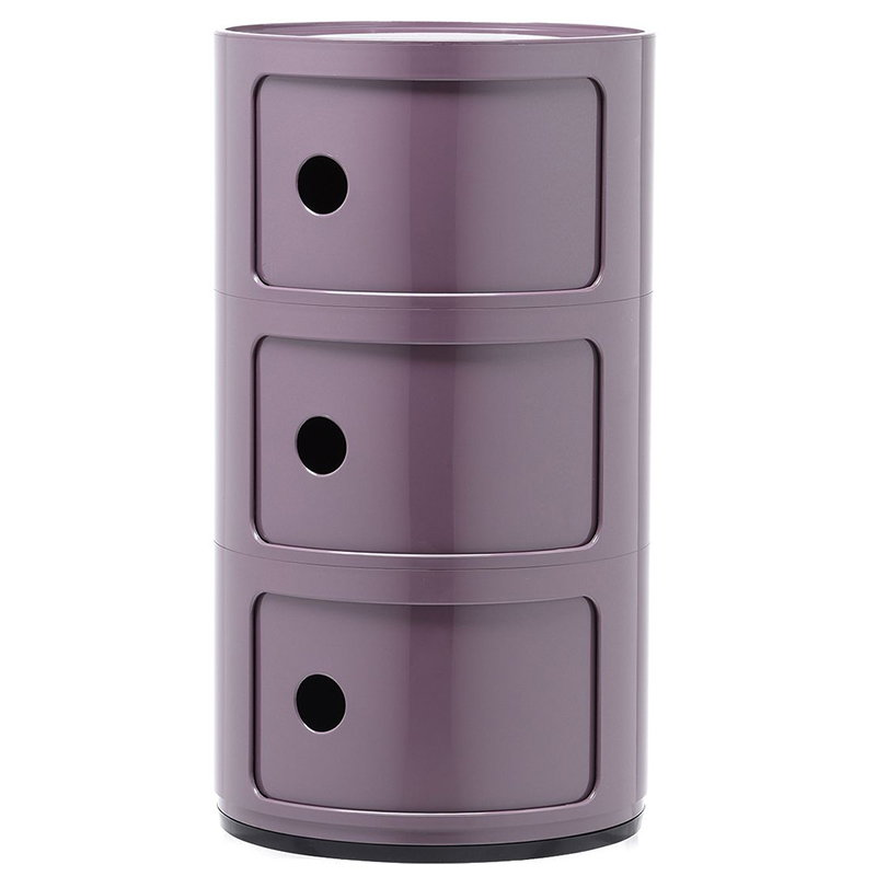 Kartell Componibili storage unit, 3 modules, purple
