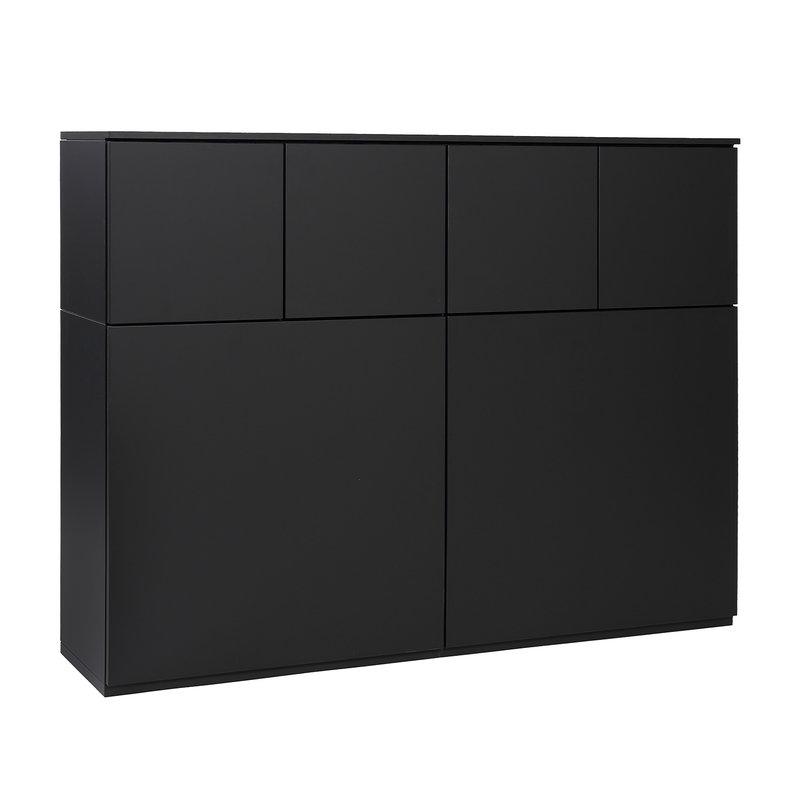Lundia Fuuga kaappi 100 x 128 cm, musta