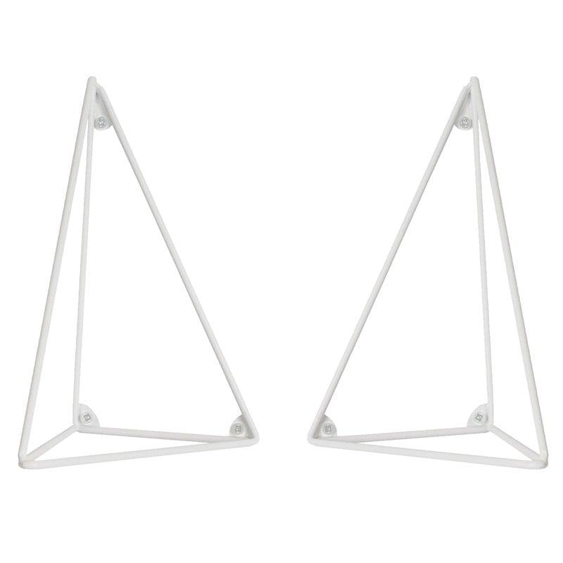 Maze Pythagoras hyllynkannattimet 2 kpl, valkoinen