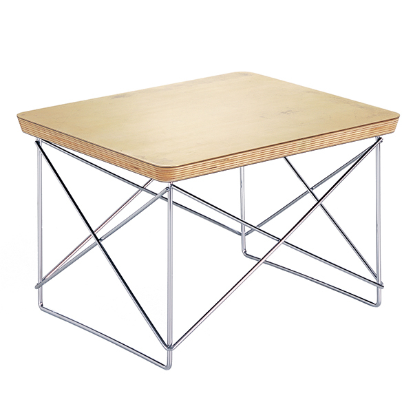 Vitra Eames LTR Occasional table, gold leaf  - chrome
