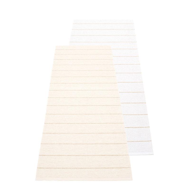 Pappelina Carl matto 70 x 180 cm, vanilja - valkoinen