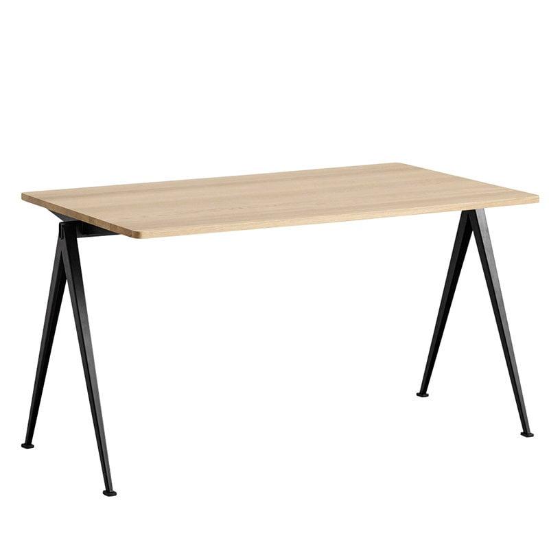Hay Pyramid table 01, black - matt lacquered oak