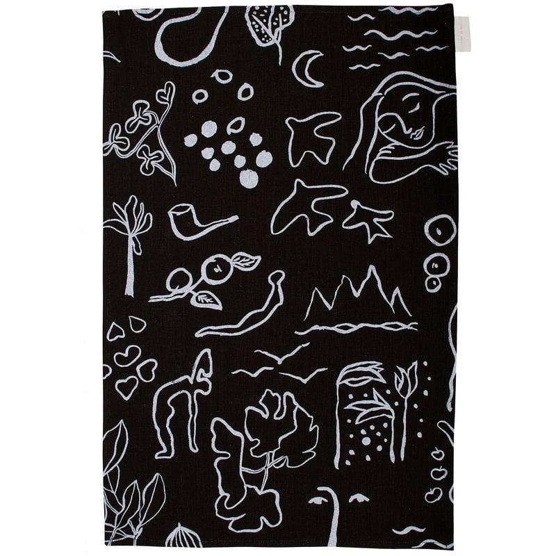 Saana ja Olli Onnenmaa tea towel/placemat, black
