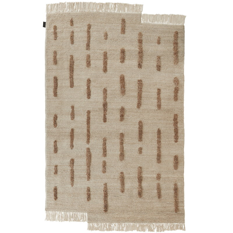 Sera Helsinki Laine rug knotted, off white - brown