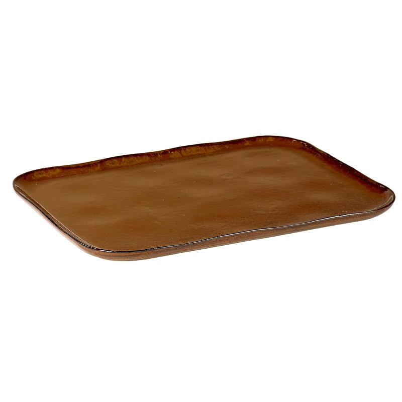 Serax Merci No 1 plate, ochre/brown